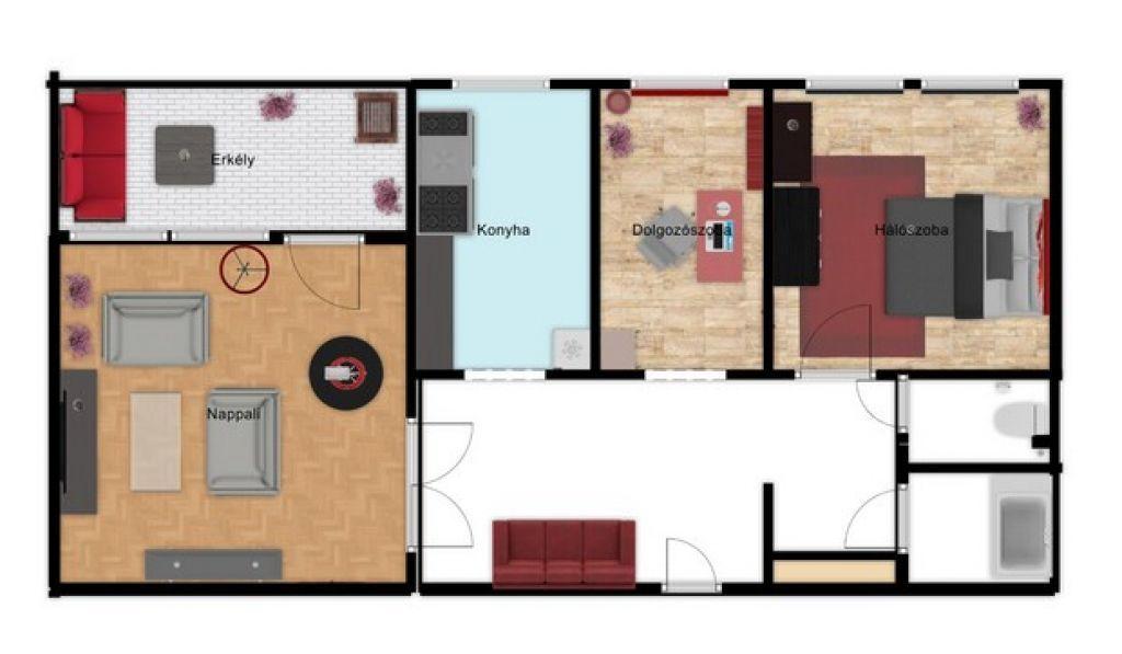 Eladó 65 m2 lakás - Budapest IV.